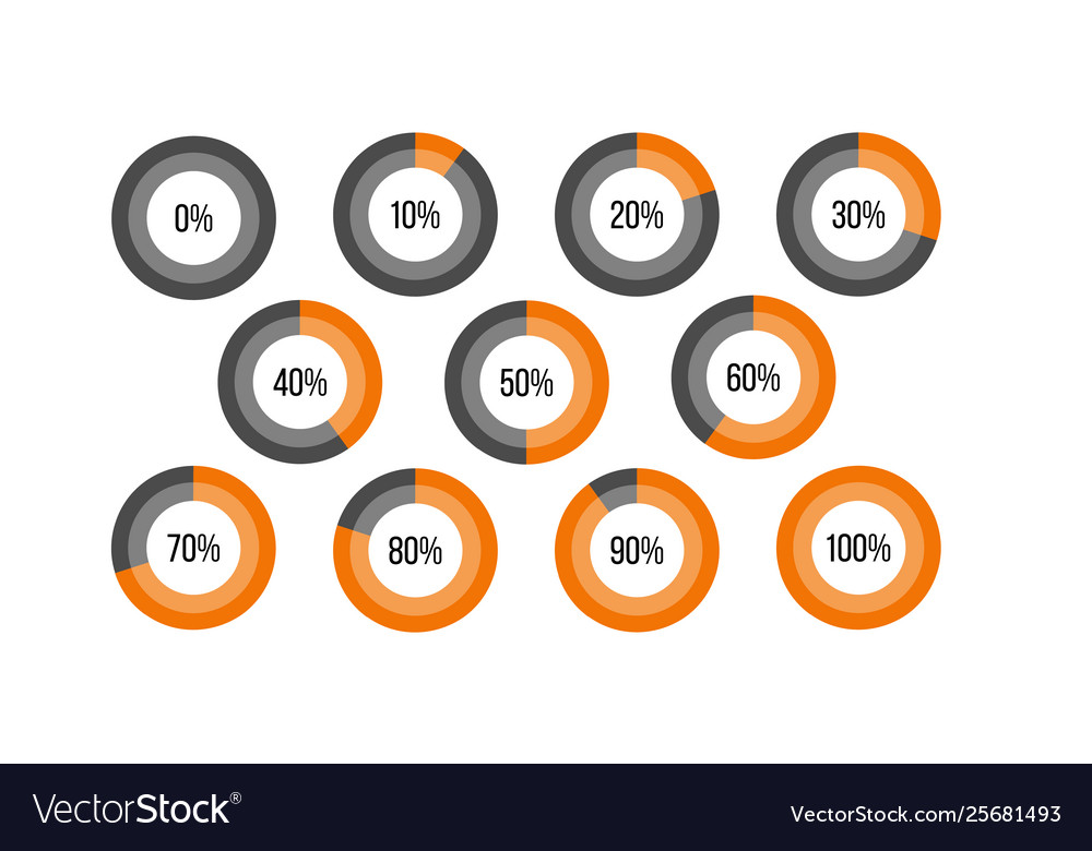Circle percent diagram pie charts infographic