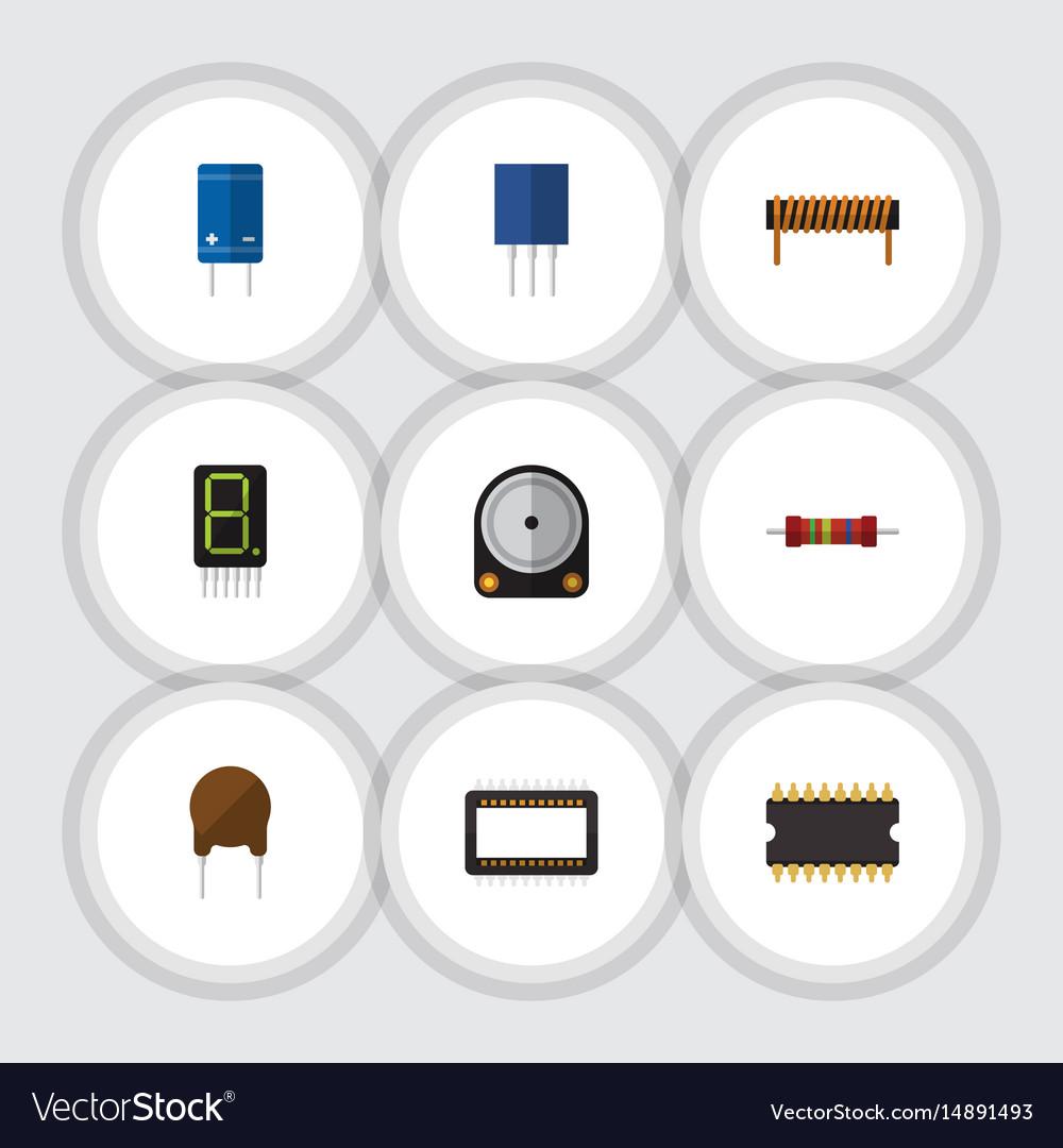 Flat electronics set of display hdd receptacle