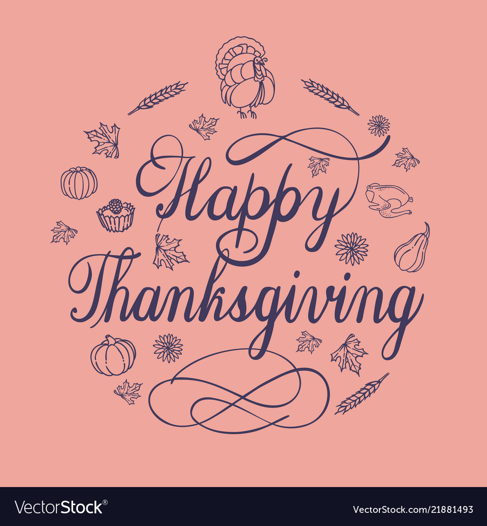 Happy thanksgiving day concept background simple