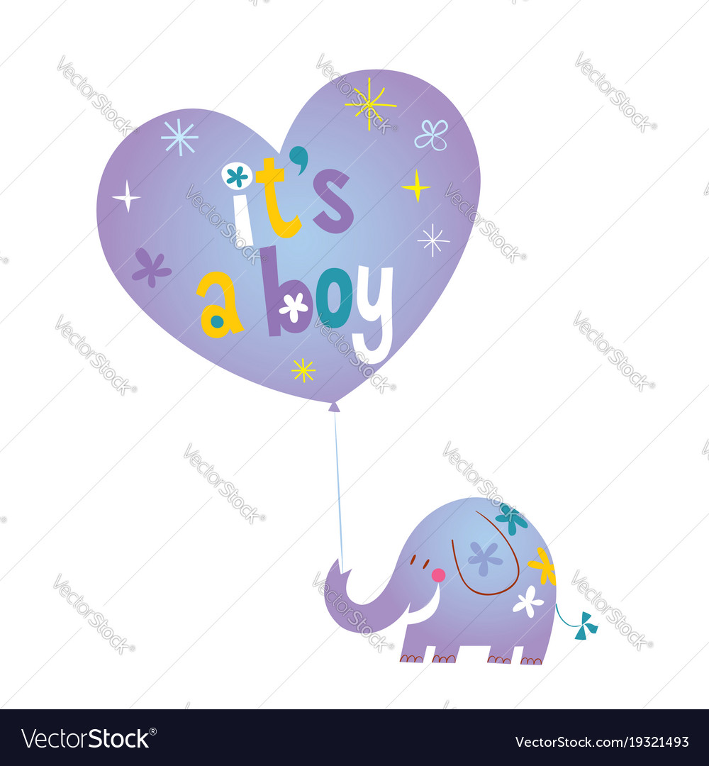 its a boy baby shower card royalty free vector image