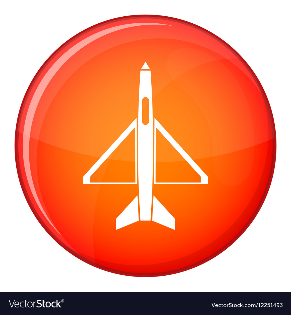 Military aircraft icon flat style