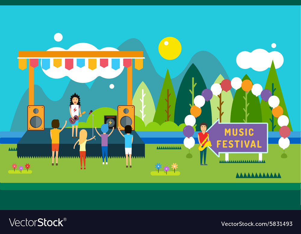 Music festival outdoor Landscape