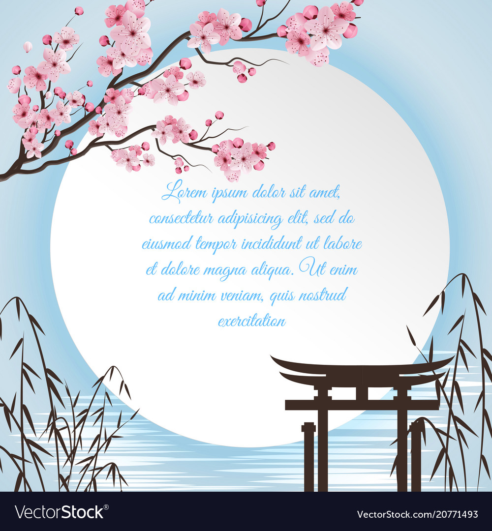 Sakura cartoon concept vector image