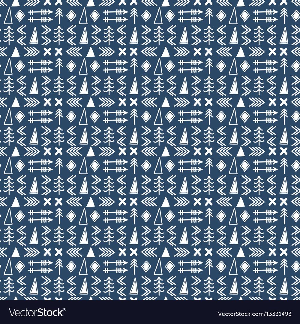 Seamless ethnic pattern scandinavian pattern