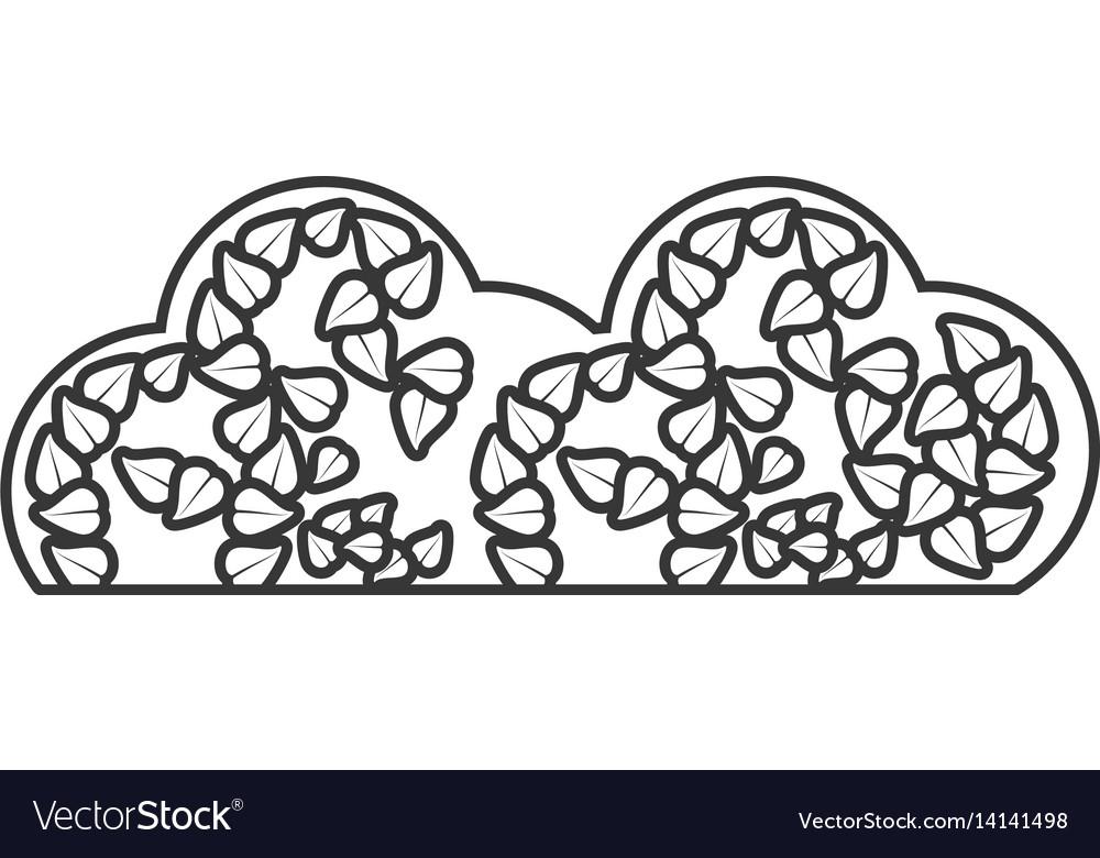 Cloud organic food sticker outline