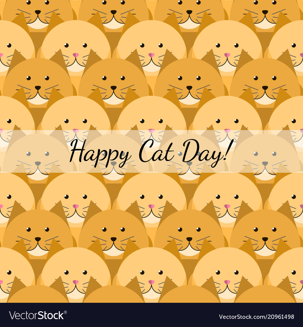 Happy cat day gift card
