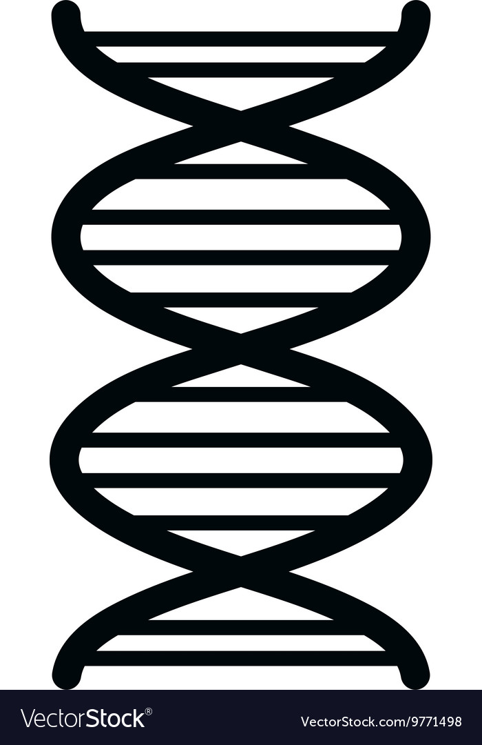 Human DNA isolated flat icon
