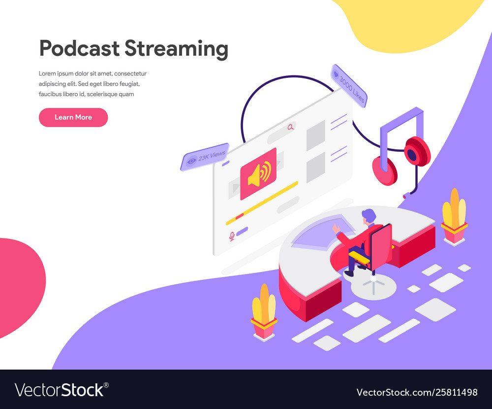 Landing page template podcast streaming