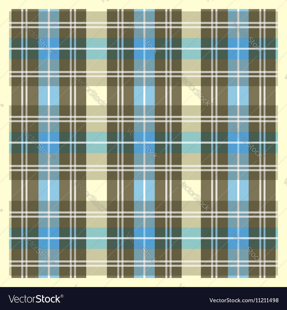 Light Yellow Brown and Blue Scottish Fabric