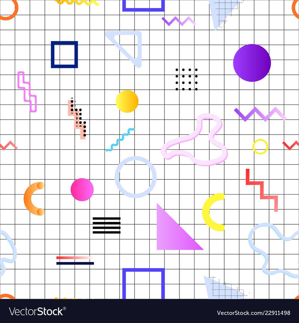 Pattern memphis 80s