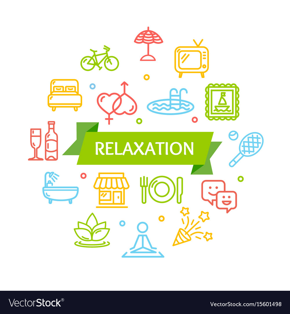 Relaxation rest time color round design template