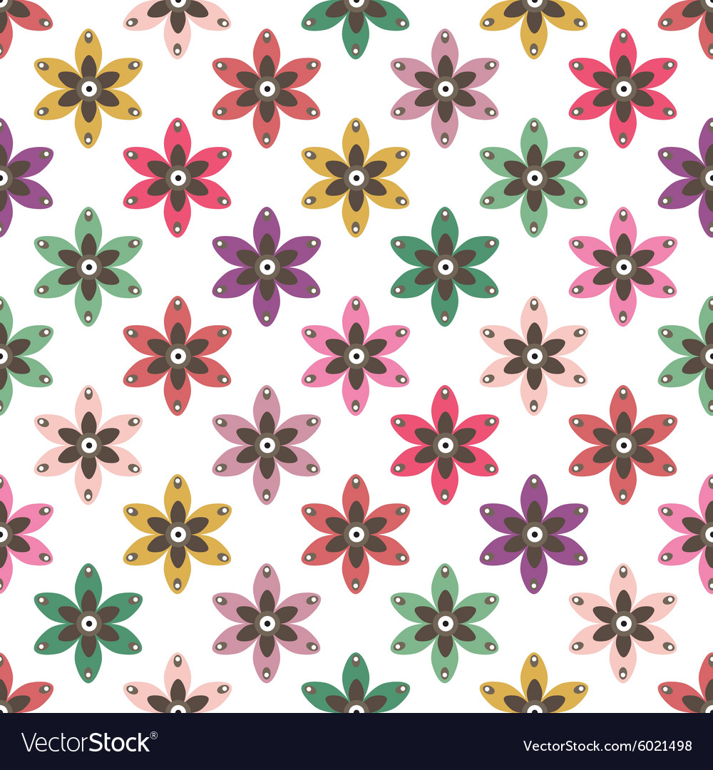 Simple Floral Background Royalty Free Vector Image