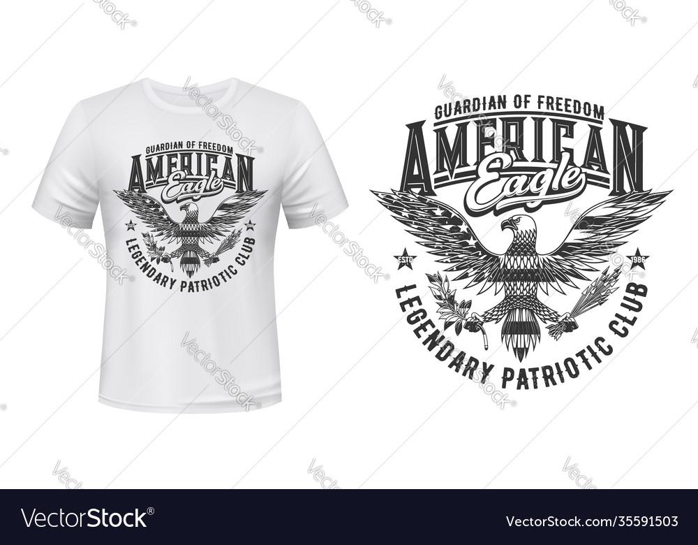 American eagle flag t-shirt print mockup us club