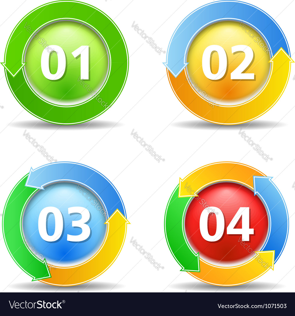 Buttons with arrows vector image