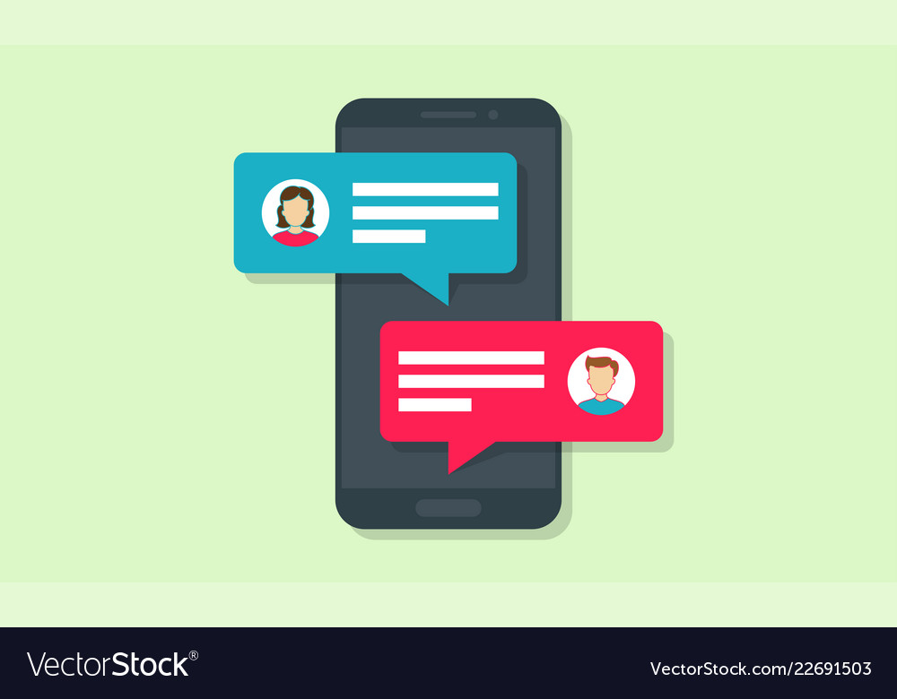 Chat message notifications in phone