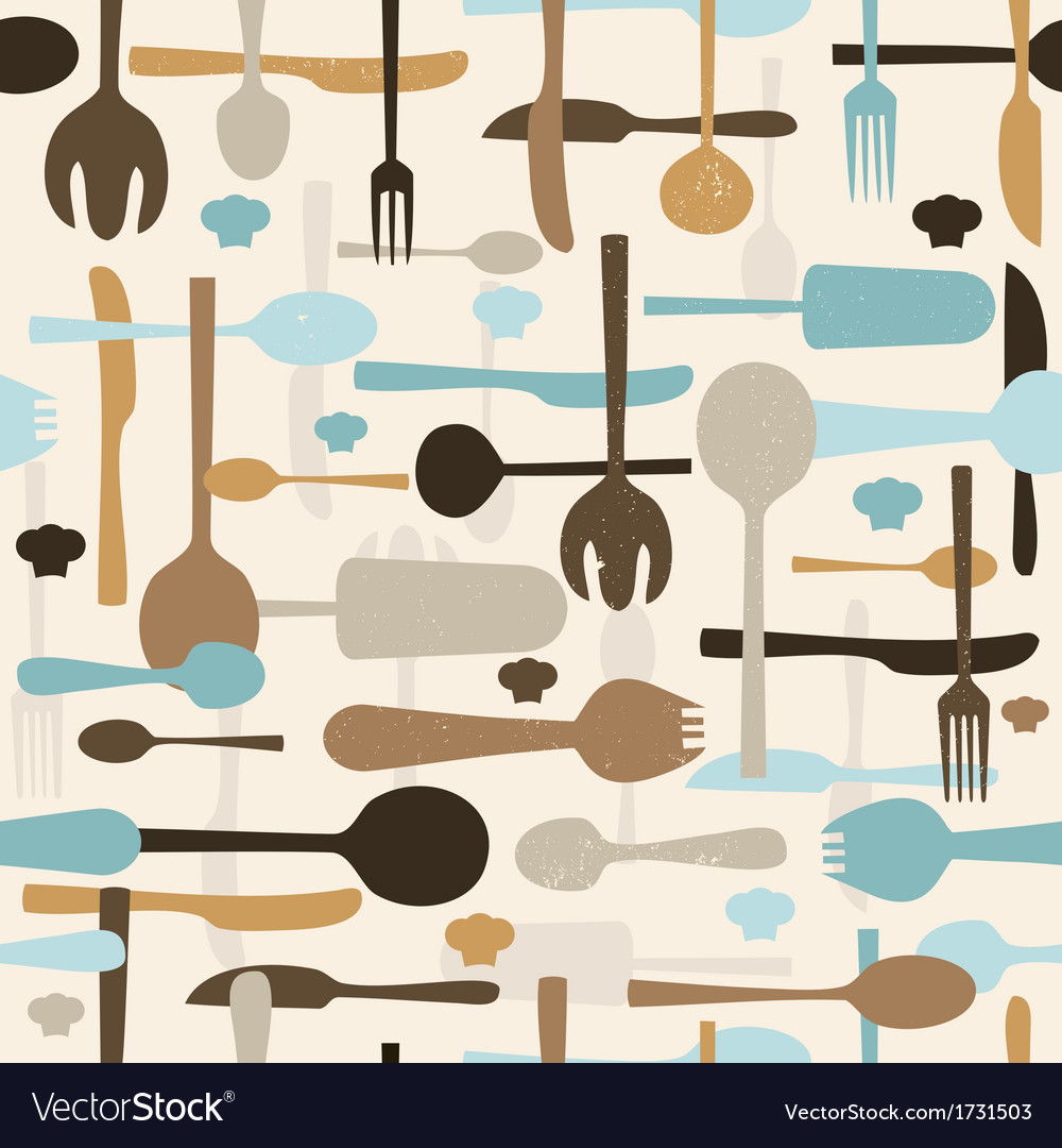 Cutlery seamless pattern background