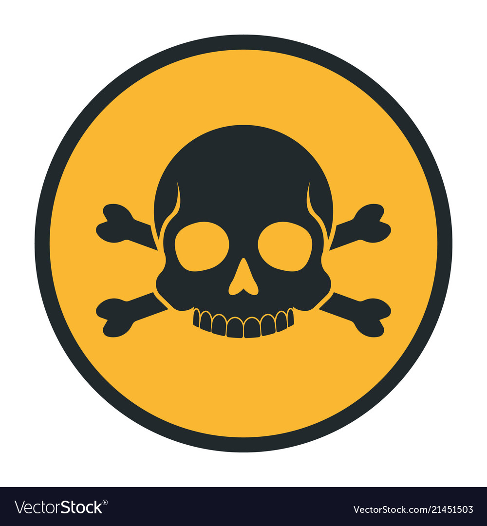 Death human skull silhouette danger sign