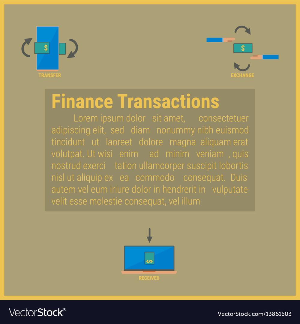 Finance transaction idea concept