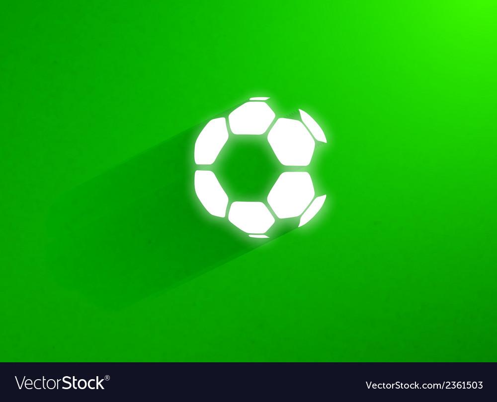 Flat soccer ball flying through the green grass