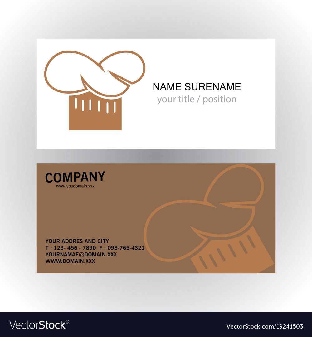 Head cook creative logo business card royalty free vector head cook creative logo business card vector image reheart Images