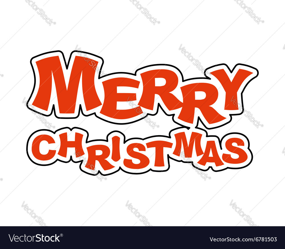 Merry Christmas Logo for holiday Emblem new year