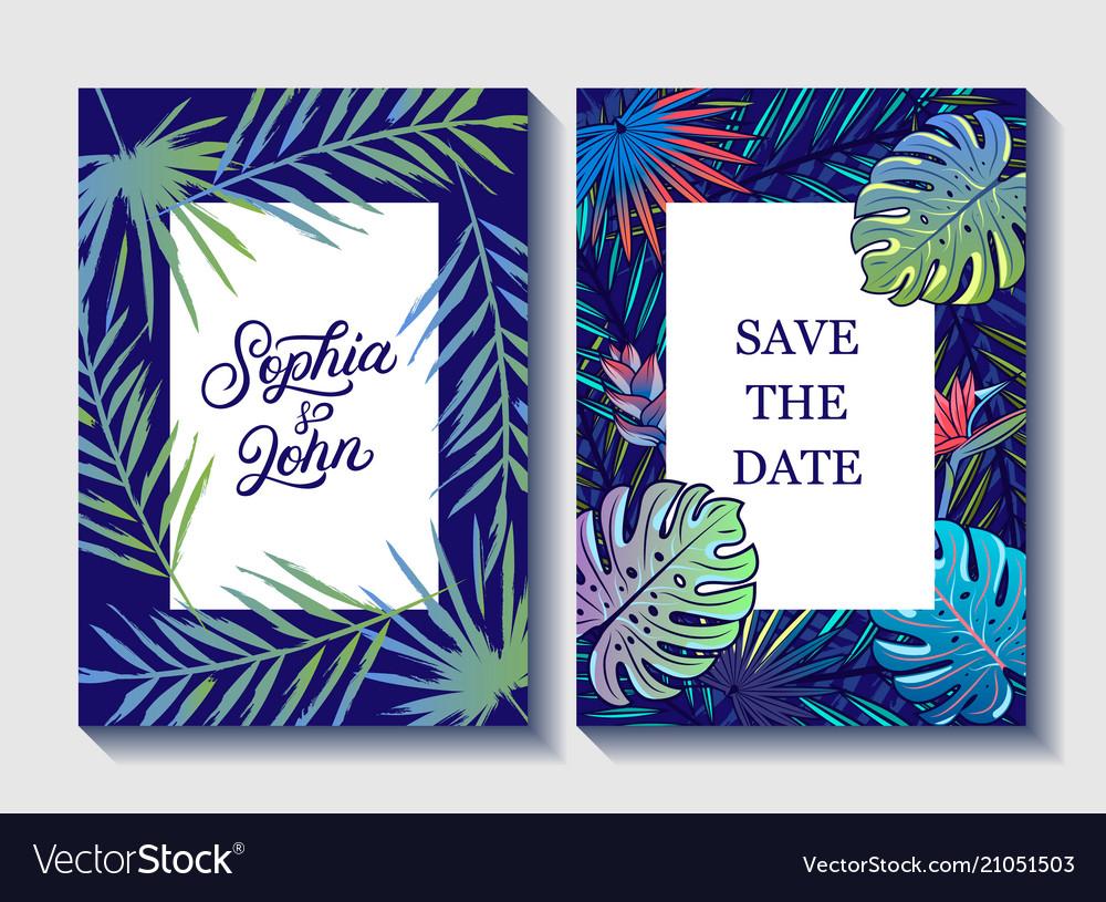 Save the date wedding invite invitation
