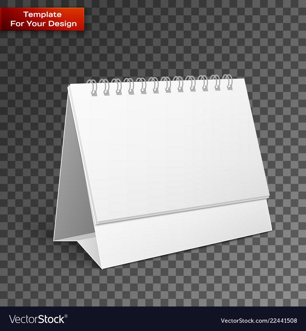 Blank paper desk spiral calendar