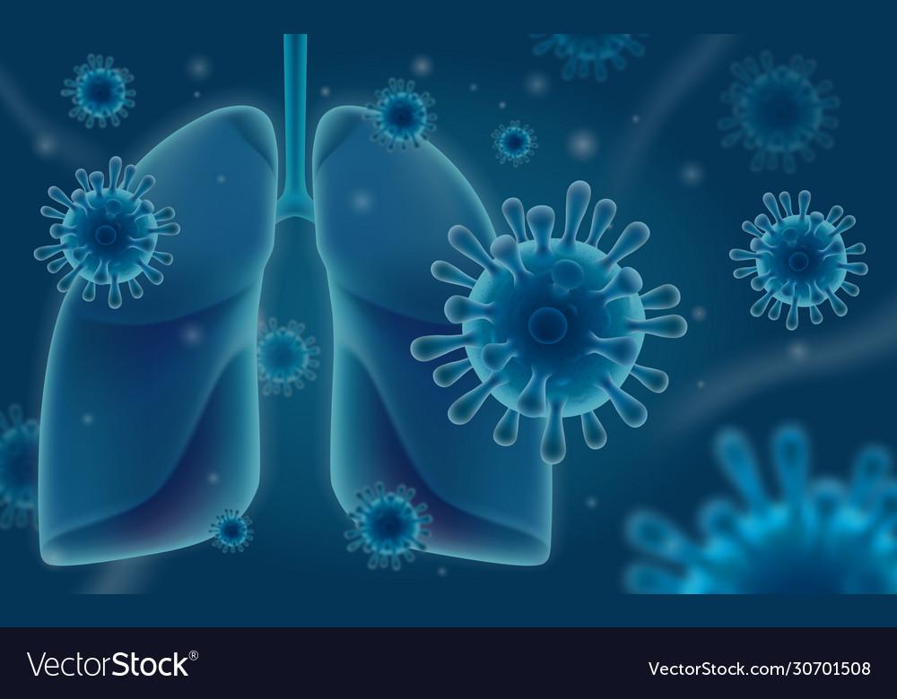 Coronavirus attacks human lungs