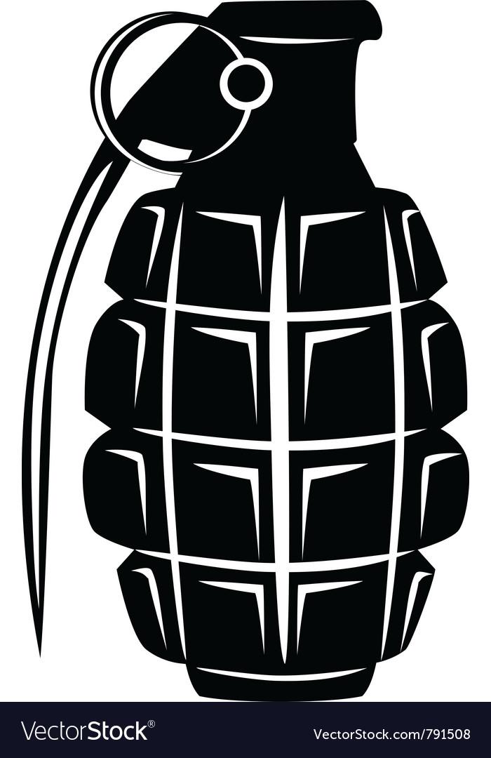 grenade royalty free vector image vectorstock rh vectorstock com