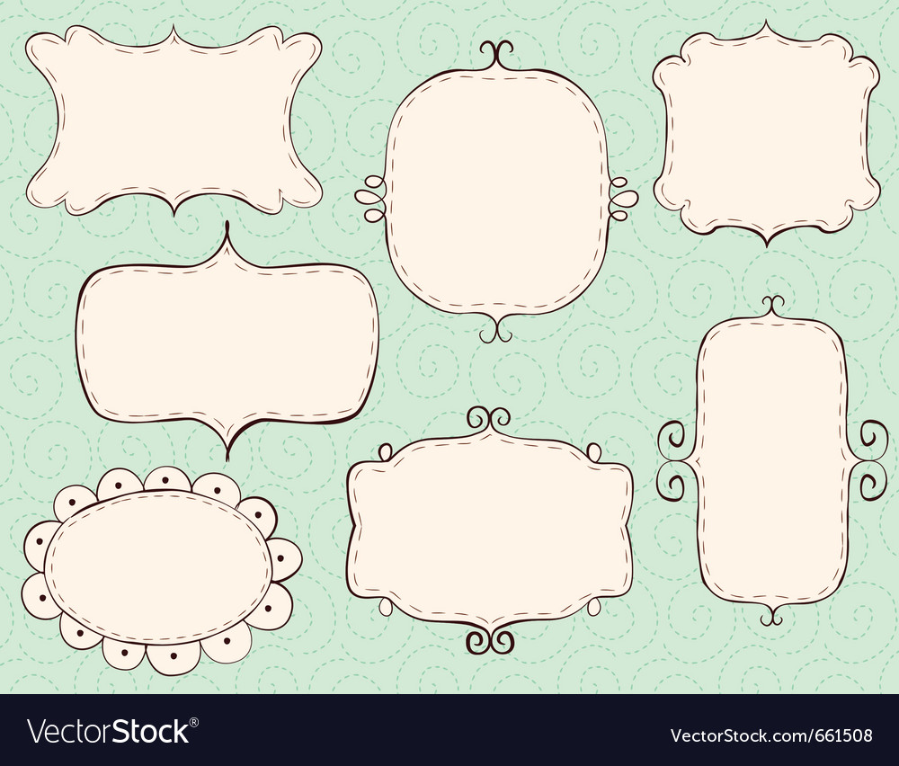 Hand drawn frames Royalty Free Vector Image - VectorStock