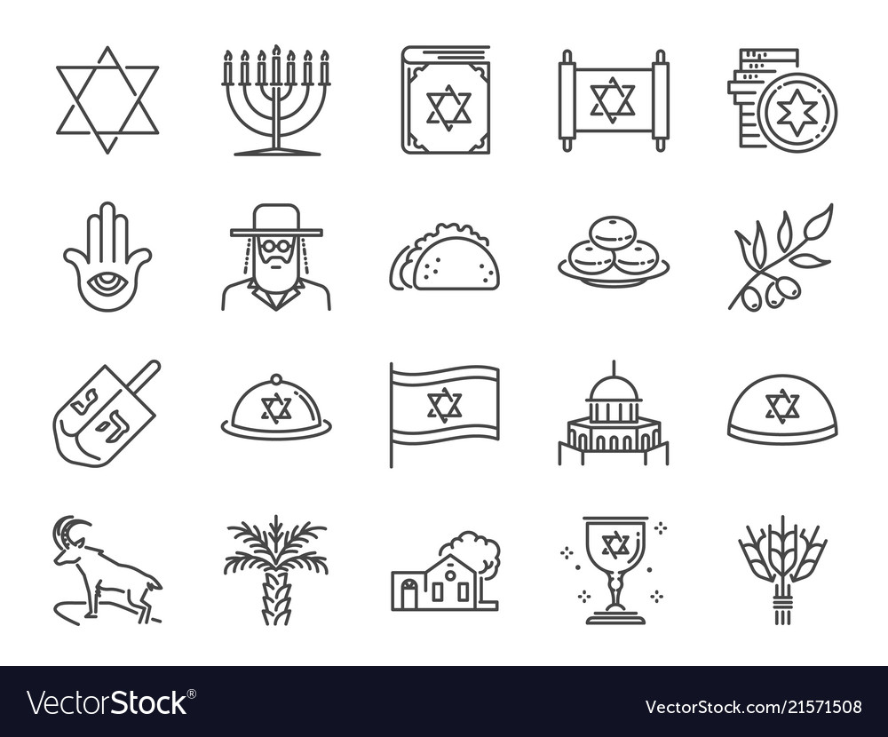 Israel icon set