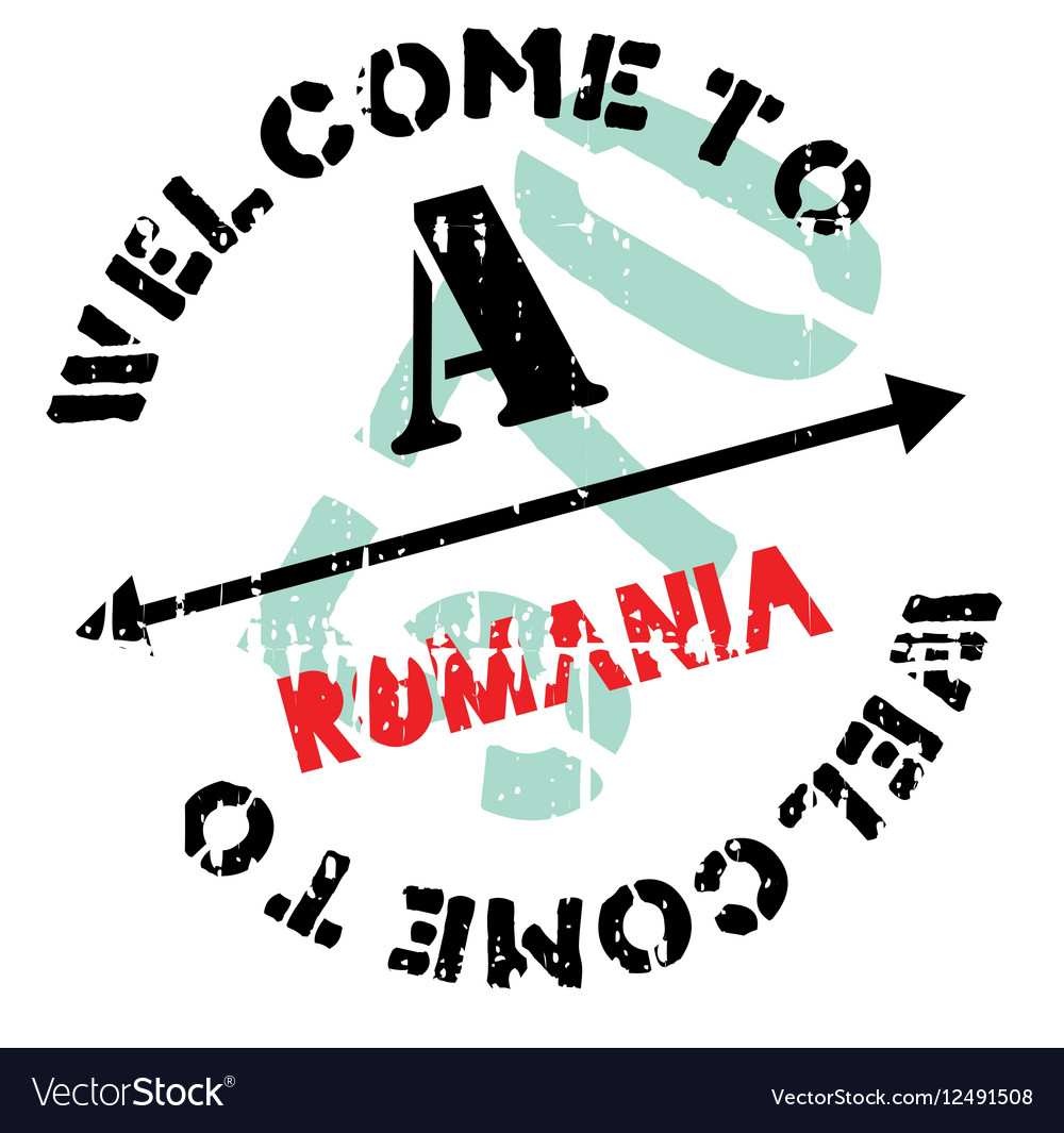 Romania stamp rubber grunge vector image