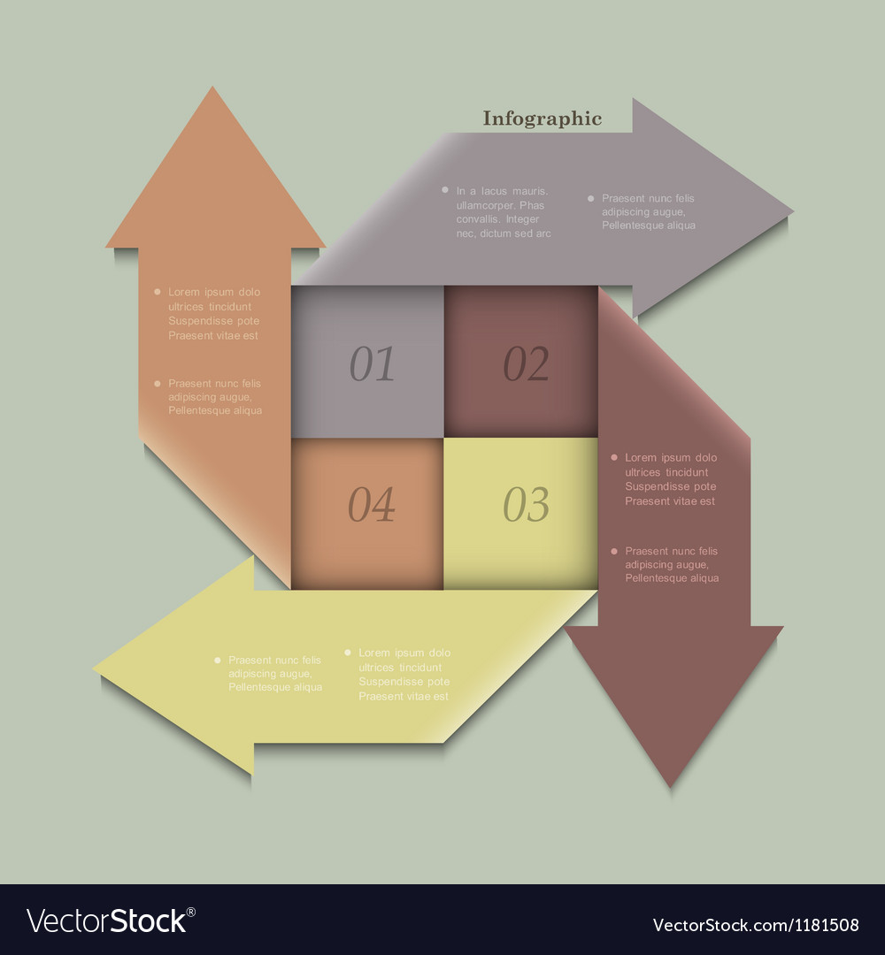 Trendy banners arrows design for infographics