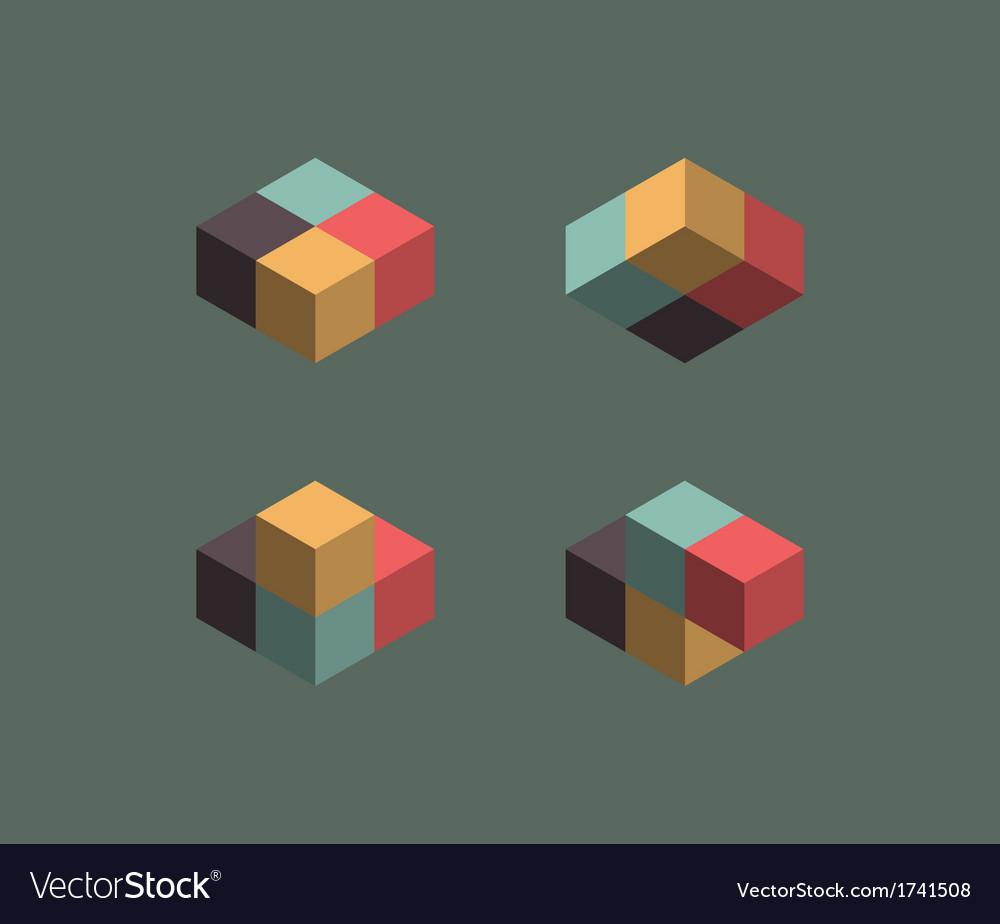 Vintage cube symbols
