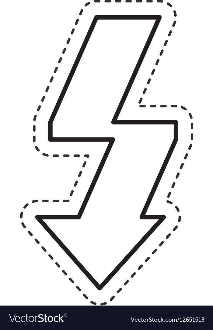 Arrow flash isolated icon