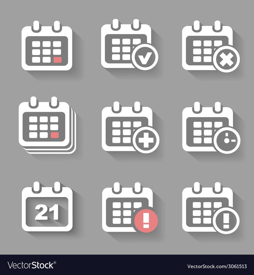 Calendar Icons- event add delete progress White