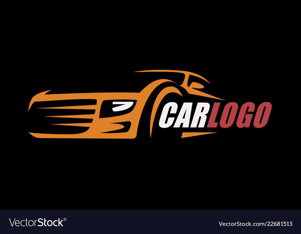 0d9e7ae0eb Car symbol logo template stylized silhouette Vector Image