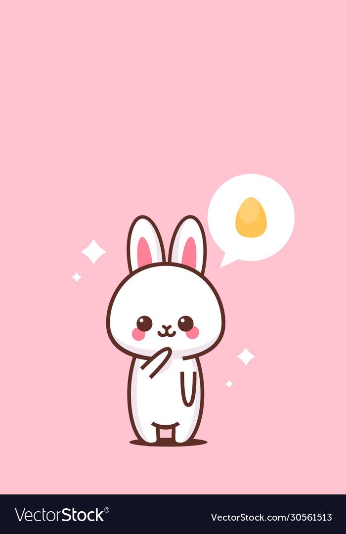 Cute rabbit happy easter bunny sticker spring