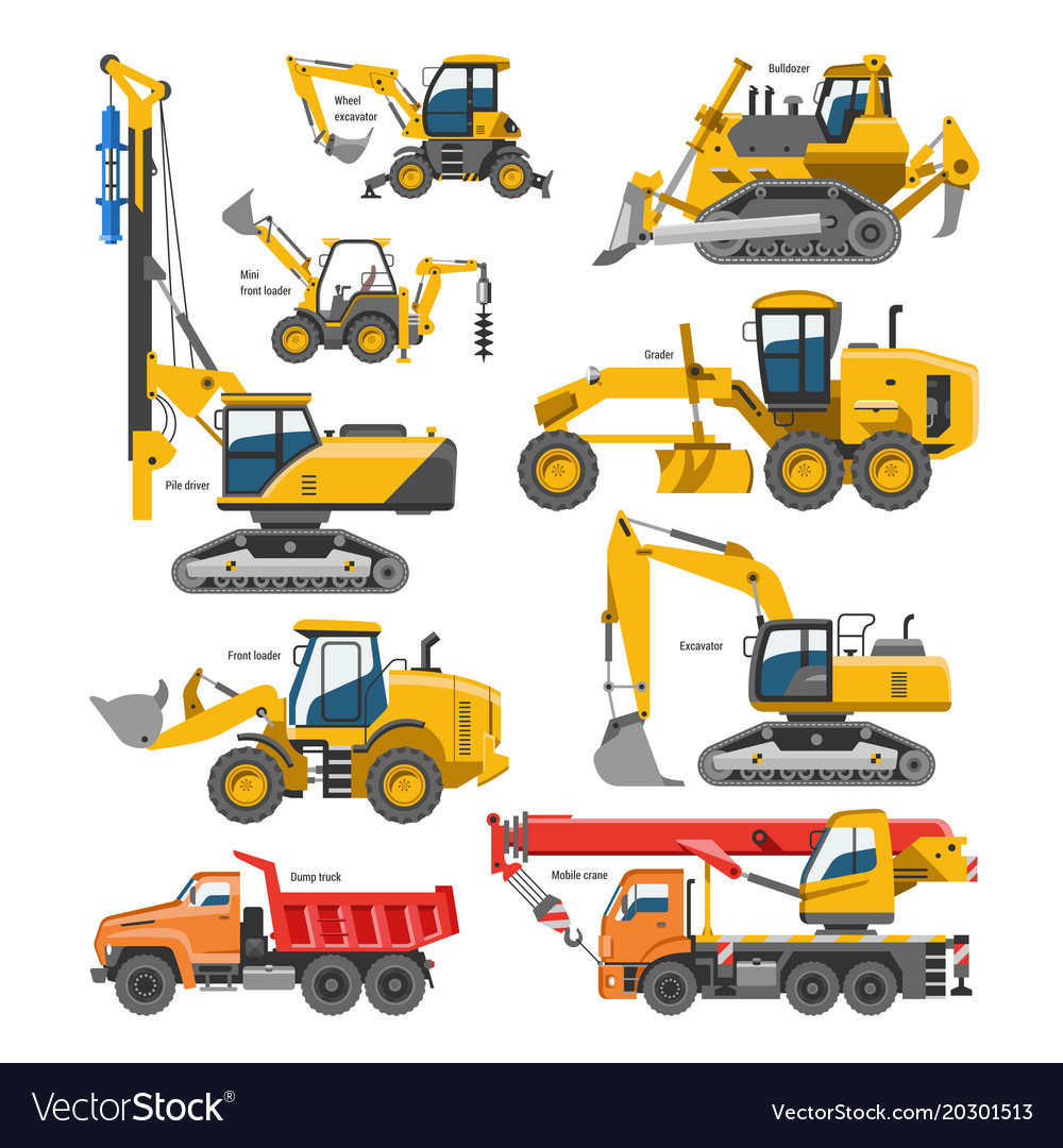 Excavator for construction digger or