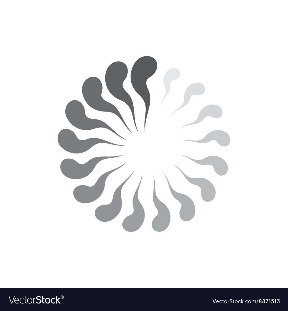 Geometric circle of abstract waves icon