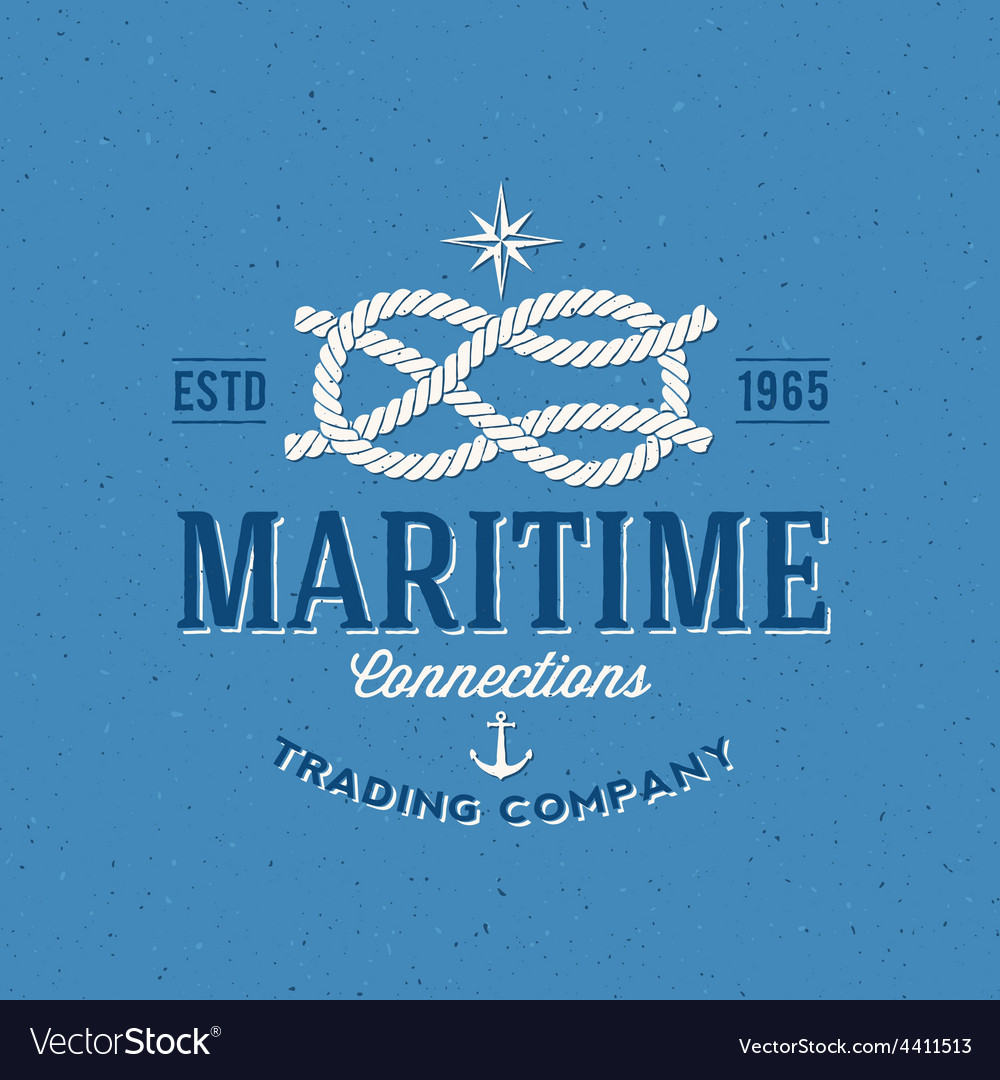 Retro Navy Trading Company Label or Logo