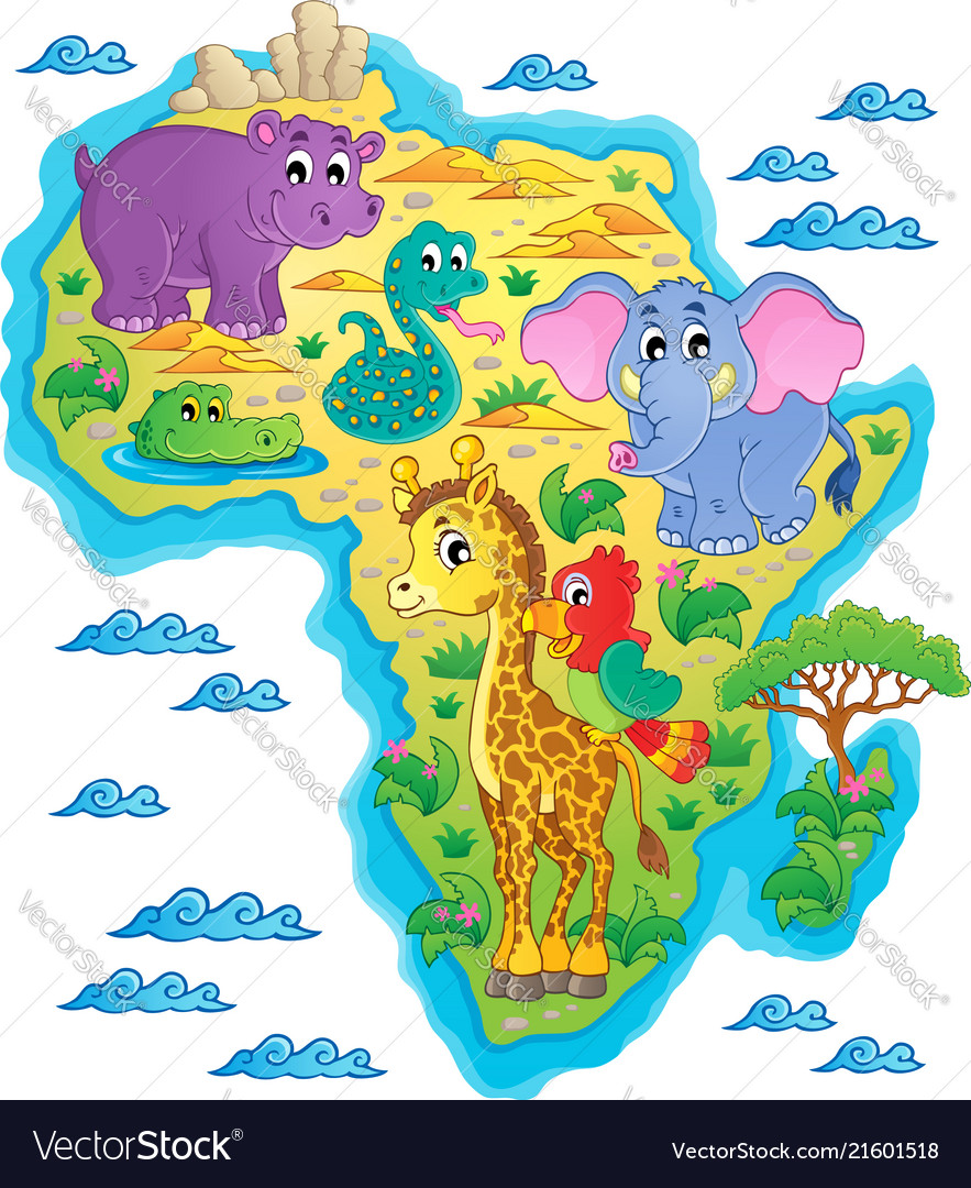 Africa Map Theme Image 1 Royalty Free Vector Image