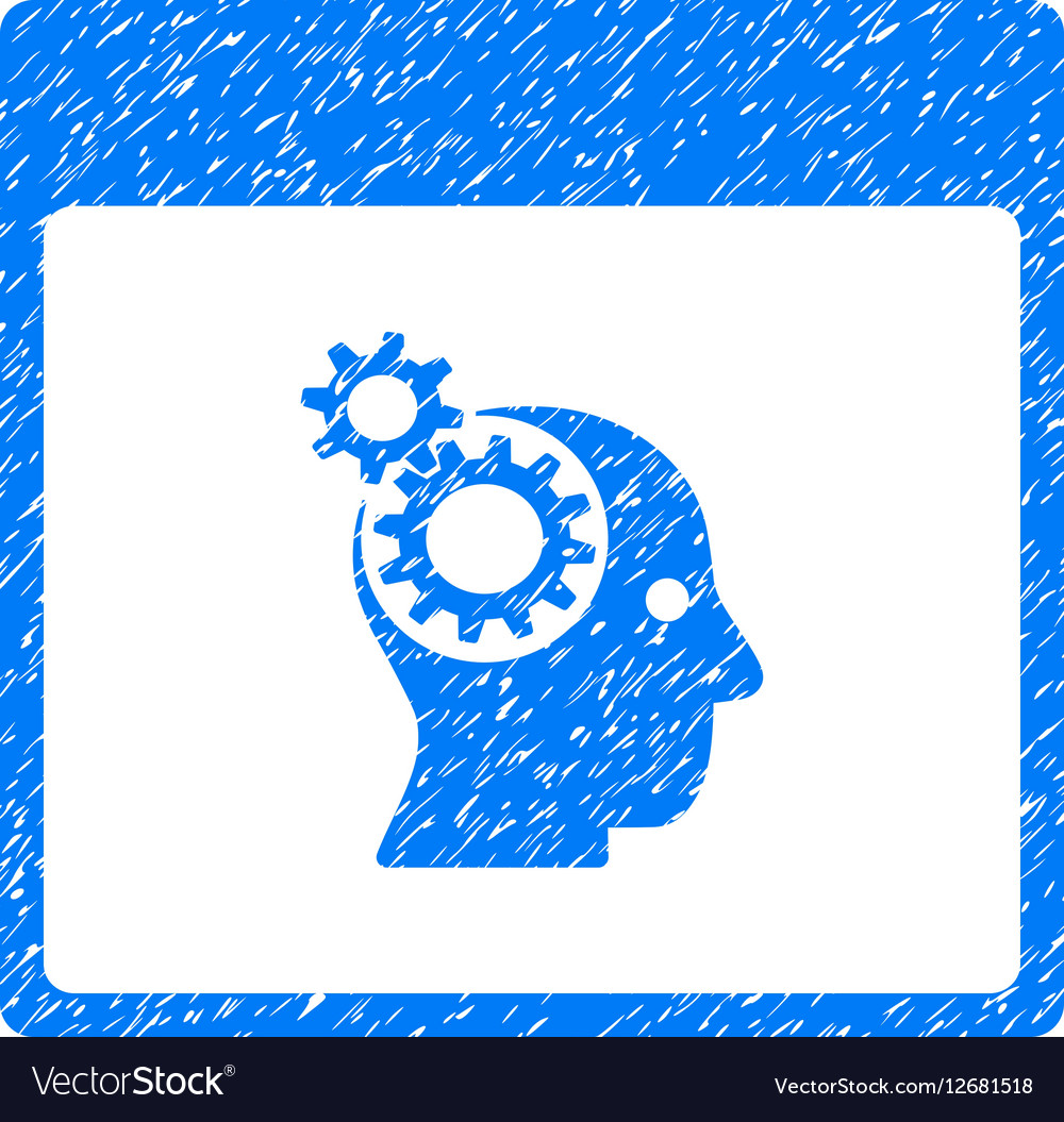 Brain Wheels Calendar Page Grainy Texture Icon