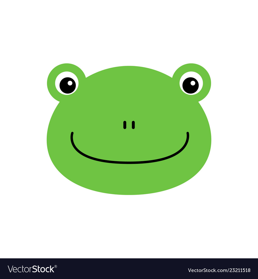 Cartoon animal cute frog on white backgrounds