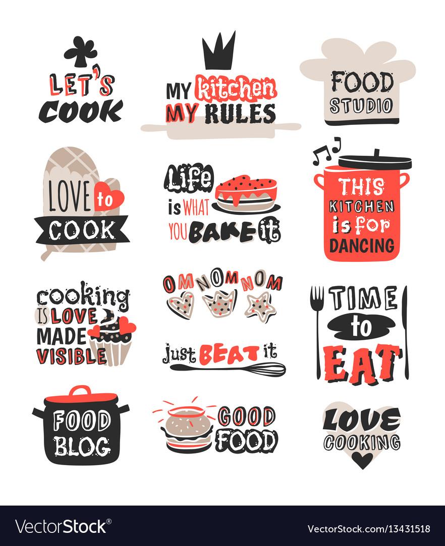 Food logotype restaurant vintage design cooking