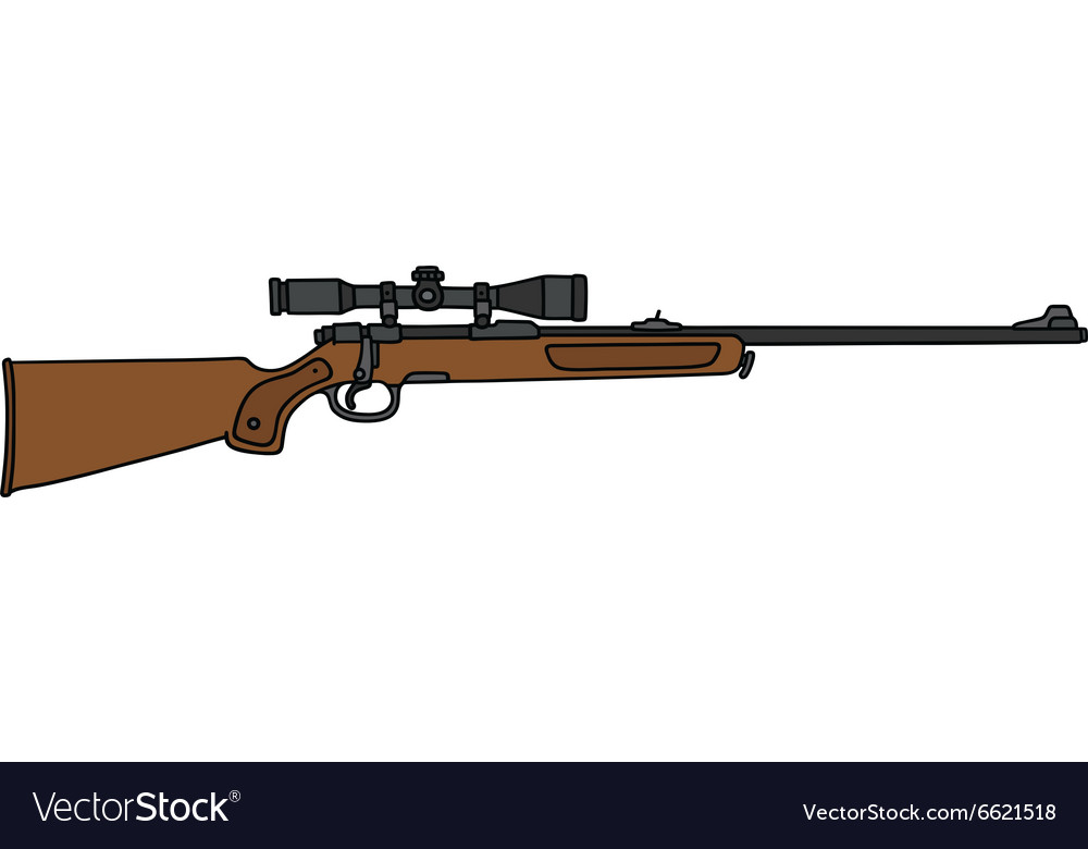 Hunting rifle with a telescope