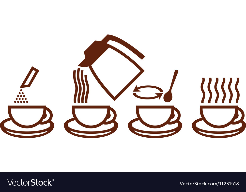 Instant Coffee Prep Icon vector image