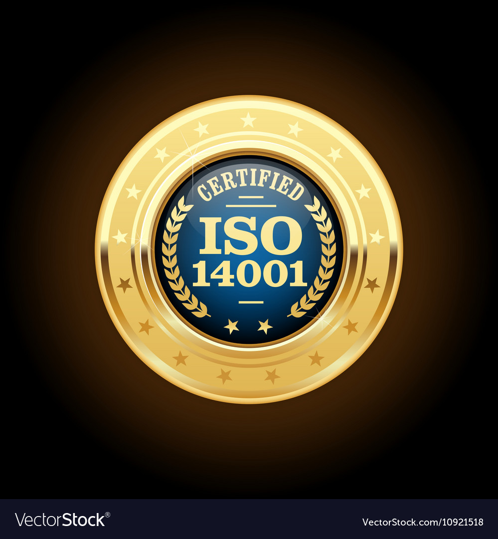ISO 14001 certified medal - quality standard