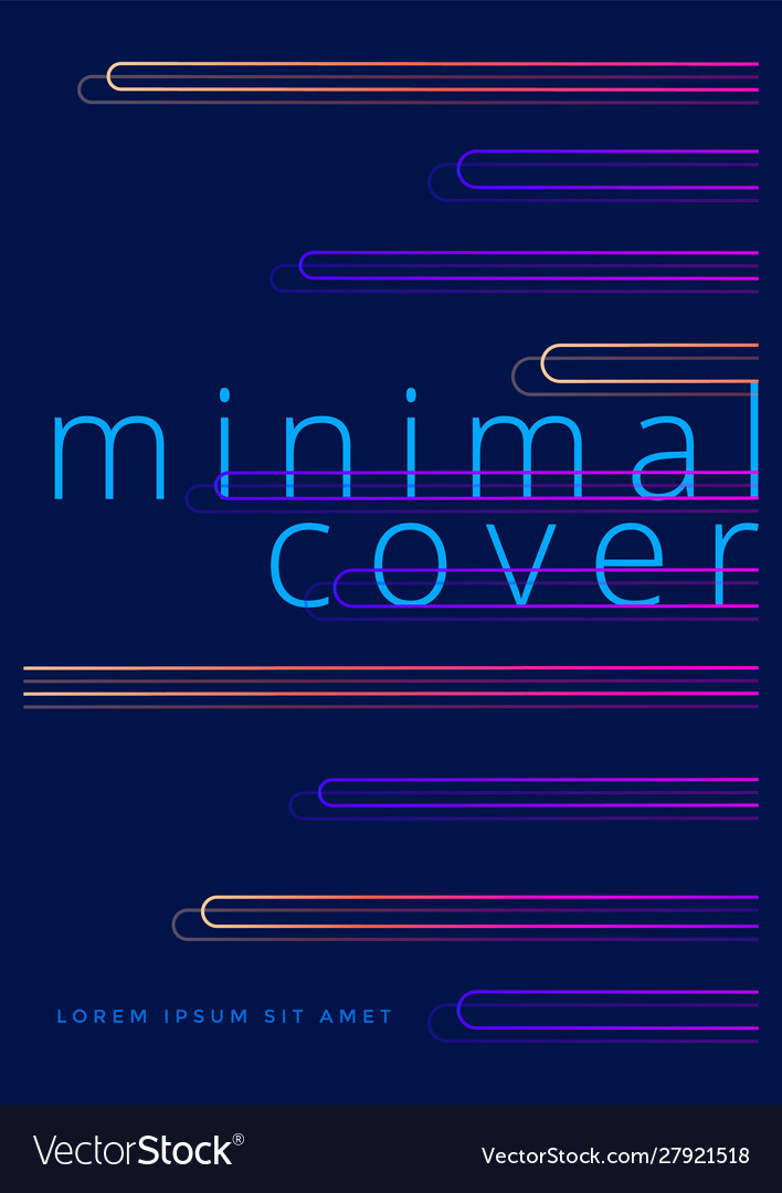 Minimal covers design with neon gradient shapes