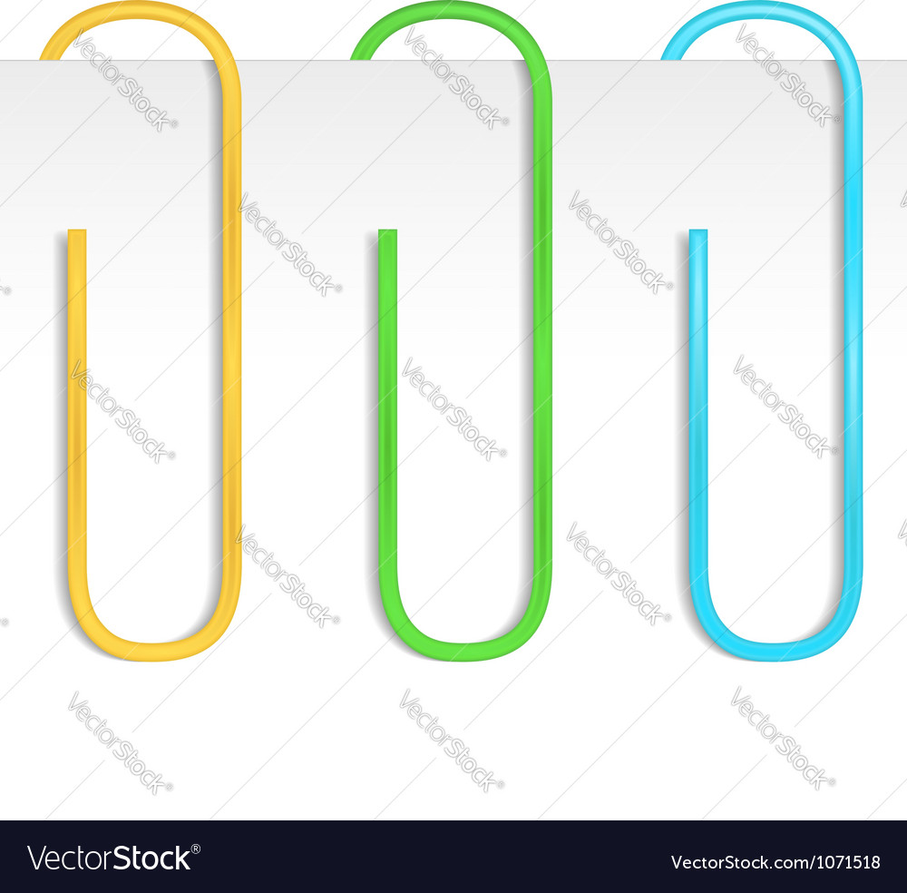 paper clips royalty free vector image vectorstock rh vectorstock com paper clip vector free paper clip vector download